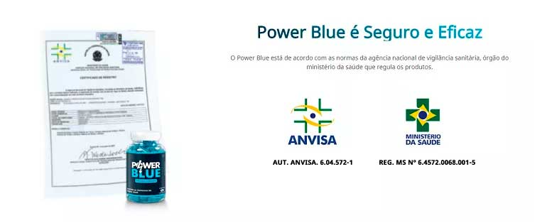 Registro Power Blue Anvisa